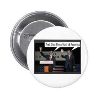 Mitt Romney Hates you 47% Vote for Barack Obama 6 Cm Round Badge