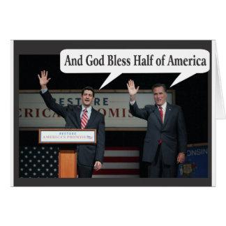 Mitt Romney Hates you 47% Vote for Barack Obama Greeting Card