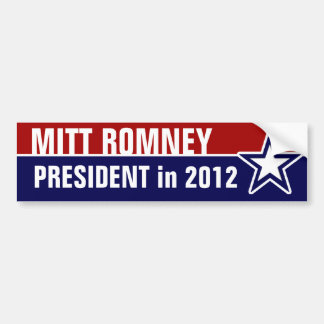 Mitt Romney in 2012 Bumper Sticker