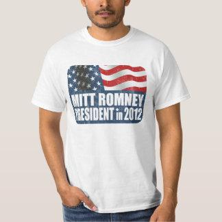 Mitt Romney in 2012 faded T-Shirt