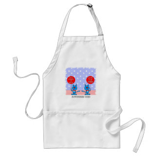 Mitt Romney is nuts vote for Obama Standard Apron