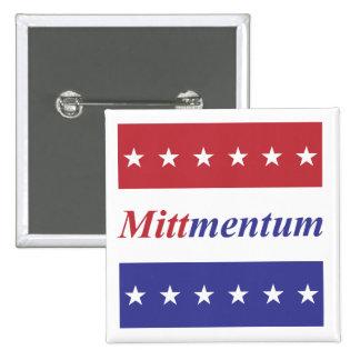 """Mitt Romney """"Mittmentum"""" button"""