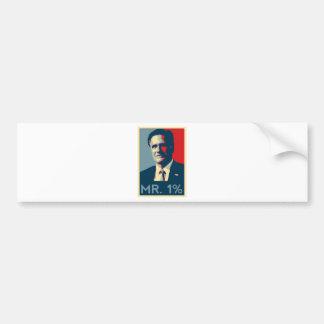 Mitt Romney - Mr. 1% Bumper Stickers