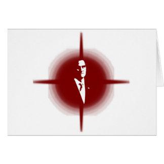 Mitt Romney Outline Greeting Cards