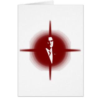 Mitt Romney Outline Greeting Card