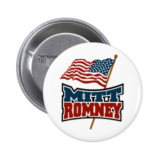 Mitt Romney Patriotic 6 Cm Round Badge