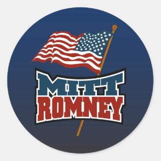 Mitt Romney Patriotic Round Sticker