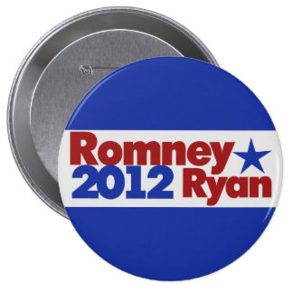 Mitt Romney Paul Ryan 2012 10 Cm Round Badge