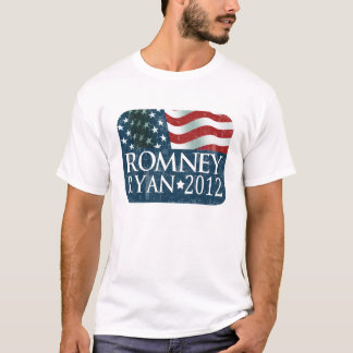 Mitt Romney Paul Ryan 2012 faded T-Shirt
