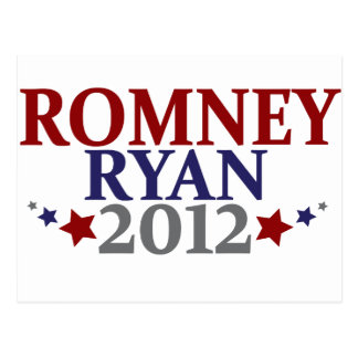 Mitt Romney Paul Ryan 2012 Postcard