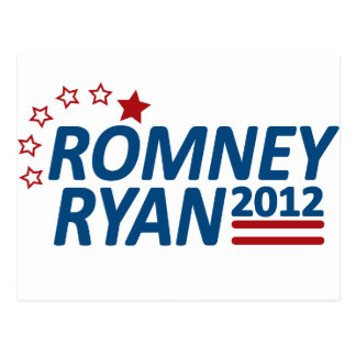 Mitt Romney Paul Ryan 2012 Stars Postcard