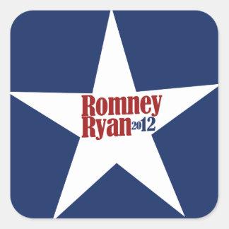 Mitt Romney Paul Ryan 2012 Square Stickers