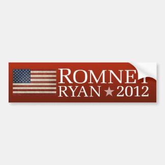 Mitt Romney Paul Ryan American Flag Design Bumper Sticker