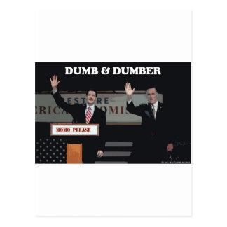 Mitt Romney Paul Ryan Dumb & Dumber Postcard