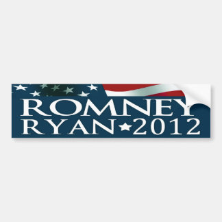 Mitt Romney Paul Ryan Election 2012 Car Bumper Sticker
