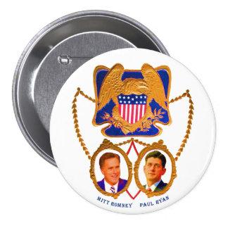 Mitt Romney & Paul Ryan for 2012 7.5 Cm Round Badge