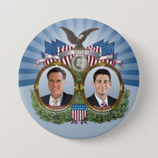 Mitt Romney Paul Ryan Jugate 7.5 Cm Round Badge