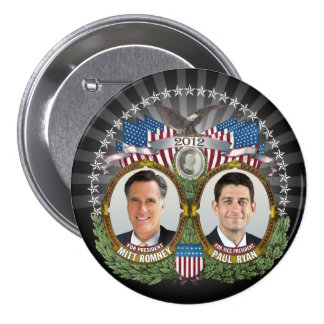 Mitt Romney Paul Ryan Photo 7.5 Cm Round Badge