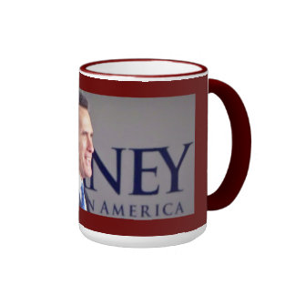 Mitt Romney Photo 15 oz. Red Trim  Mug