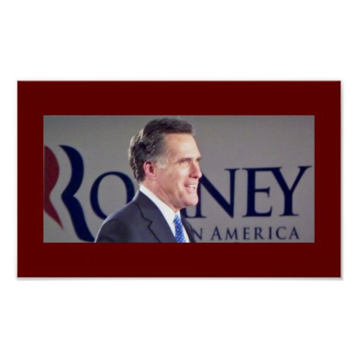 Mitt Romney Photo Poster
