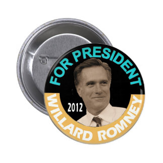 Mitt Romney President in 2012 6 Cm Round Badge