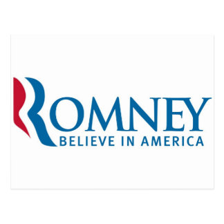 Mitt Romney Presidential Campaign Election Product Postcard