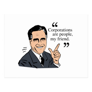 Mitt Romney Quotes color Postcard