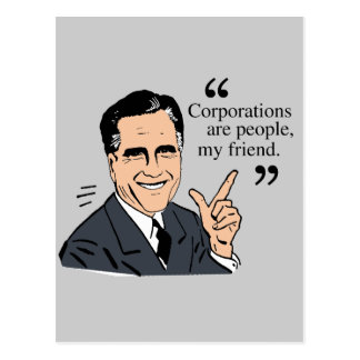 Mitt Romney Quotes color Postcards