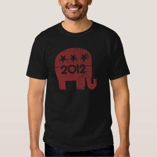 Mitt Romney Republican Elephant 2012 (Distressed) Tshirts