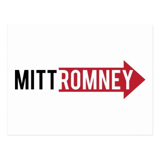 Mitt Romney Right Post Card