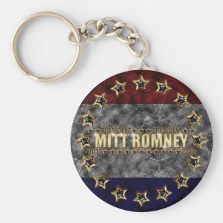 Mitt Romney Stars and Stripes. Basic Round Button Key Ring