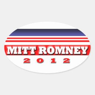 Mitt Romney Oval Stickers