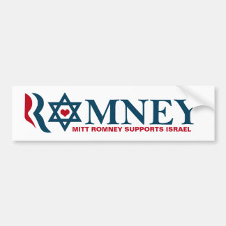 Mitt Romney Supports Israel Bumper Sticker