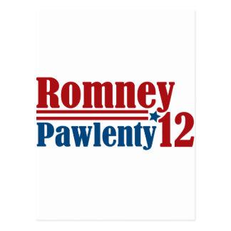 Mitt Romney Tim Pawlenty 2012 Postcard