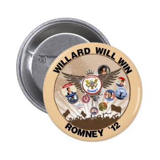 Mitt Romney will win in 2012 6 Cm Round Badge