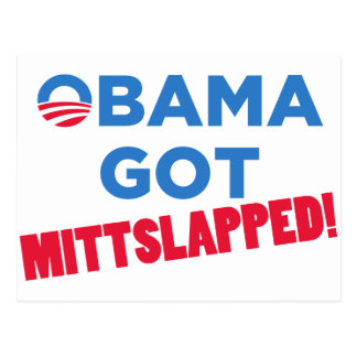 Mitt Slapped Postcard