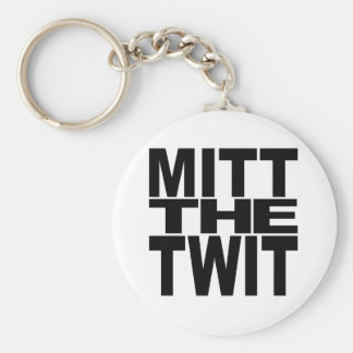 Mitt The Twit Basic Round Button Key Ring