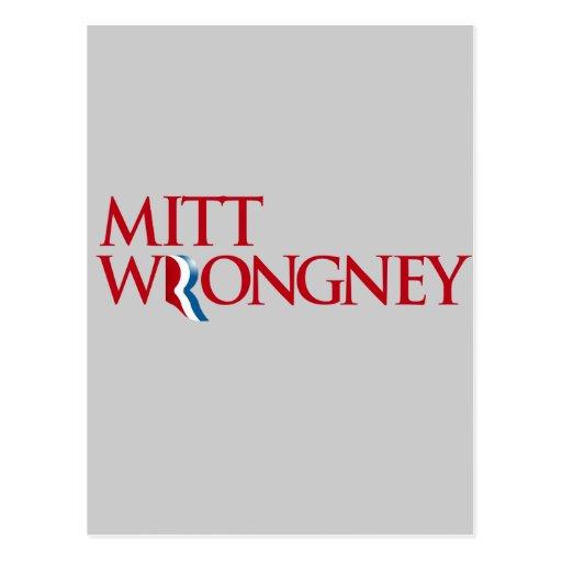 Mitt Wrongney Post Card