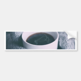 Mittens and Coffee Cup Bumper Sticker
