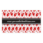 Mittens and Snowflakes Retro Christmas Ski Holiday Pack Of Standard Business Cards