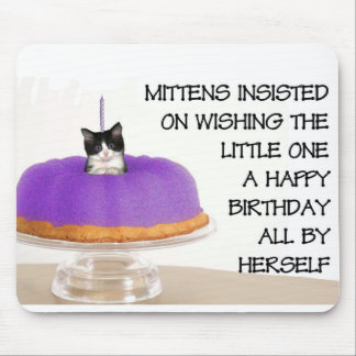 Mittens' birthday greeting mouse pad