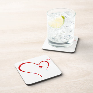 "Mittens for Detroit ""Heart Logo"" coasters - set 6"
