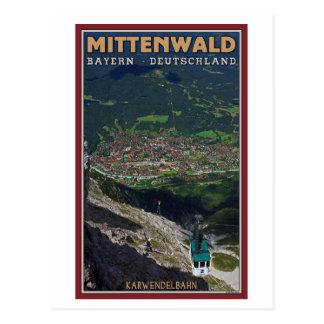 Mittenwald - Karwendelbahn Terminus Postcard