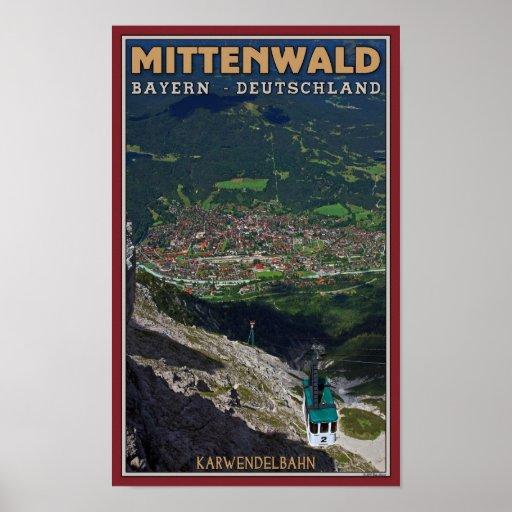 Mittenwald - Karwendelbahn Terminus Poster