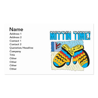 Mittin Time Double-Sided Standard Business Cards (Pack Of 100)