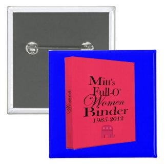 Mitt's Binders Full of Women Binder 15 Cm Square Badge