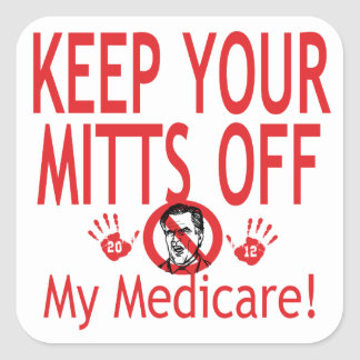 Mitts Off Medicare Square Stickers