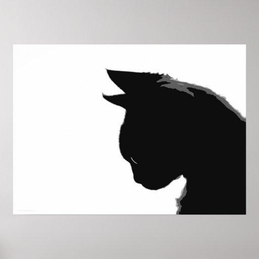 Mitzi Kitty: Black and White Cat Poster