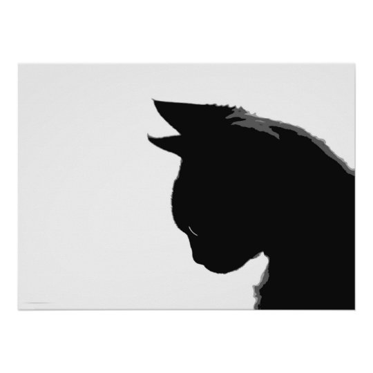 Mitzi Kitty: Black and White Cat Poster