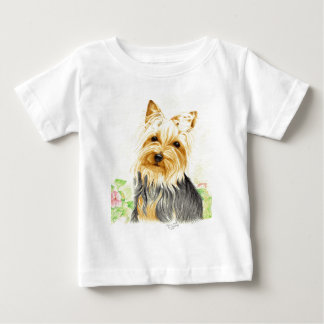 Mitzy a miniature Yorshire Terrier Baby T-Shirt